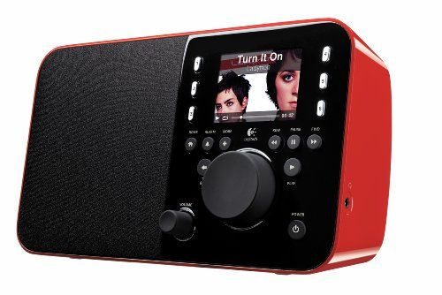 Logitech Squeezebox Radio - Red - http://www.shopeasyplus.com/logitech-squeezebox-radio-red/