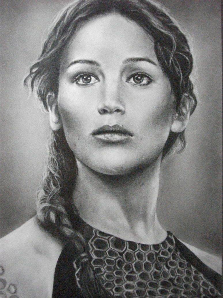 how to draw katniss everdeen step by step easy
