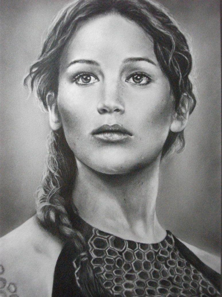 Drawing Of Katniss Everdeen Google Search Hunger Games