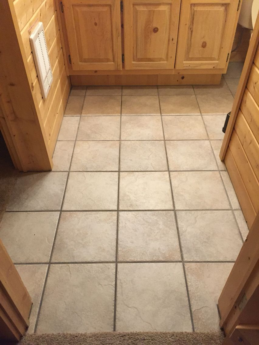 Charcoal gray grout after scrubbing with every Pinterest