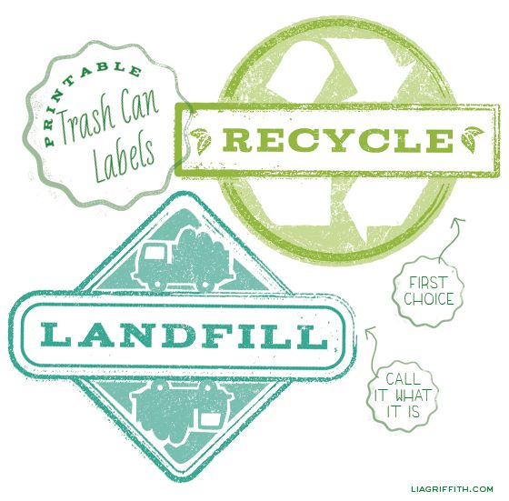 Printable Trash Can Labels Free printable, Organizations and - free printable shipping labels