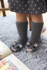 Вязанье носков новогодние