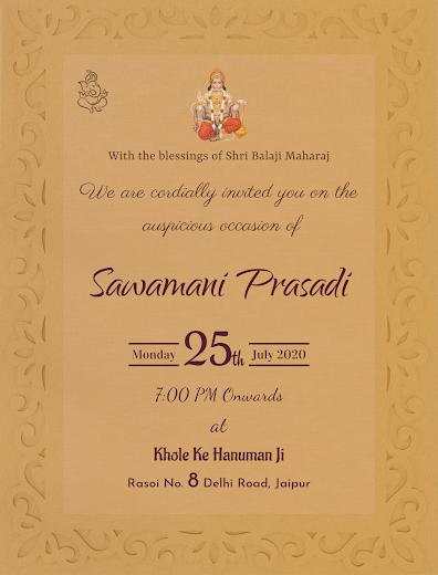Perfect Design Of Savamani Program Invitation E Card Free Invitation Cards Free Invitations Invitation Card Maker