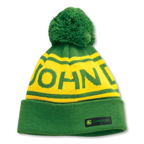 eadfa5c3e Youth Knit Stocking Cap/Hat with Pom (Green/Yellow) - www ...