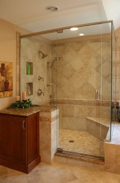 An Earthtone Master Bath And Closet In Lakewood Traditional Bathroom Bathrooms Remodel Taupe Bathroom