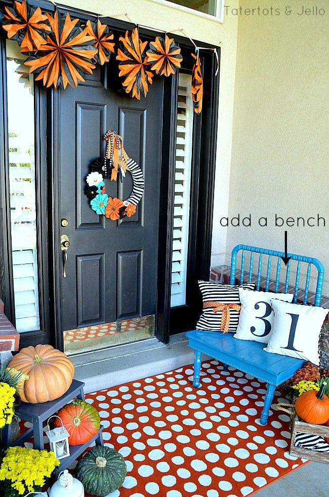 5 Tips to Creating a Beautiful Fall Front Porch decorating