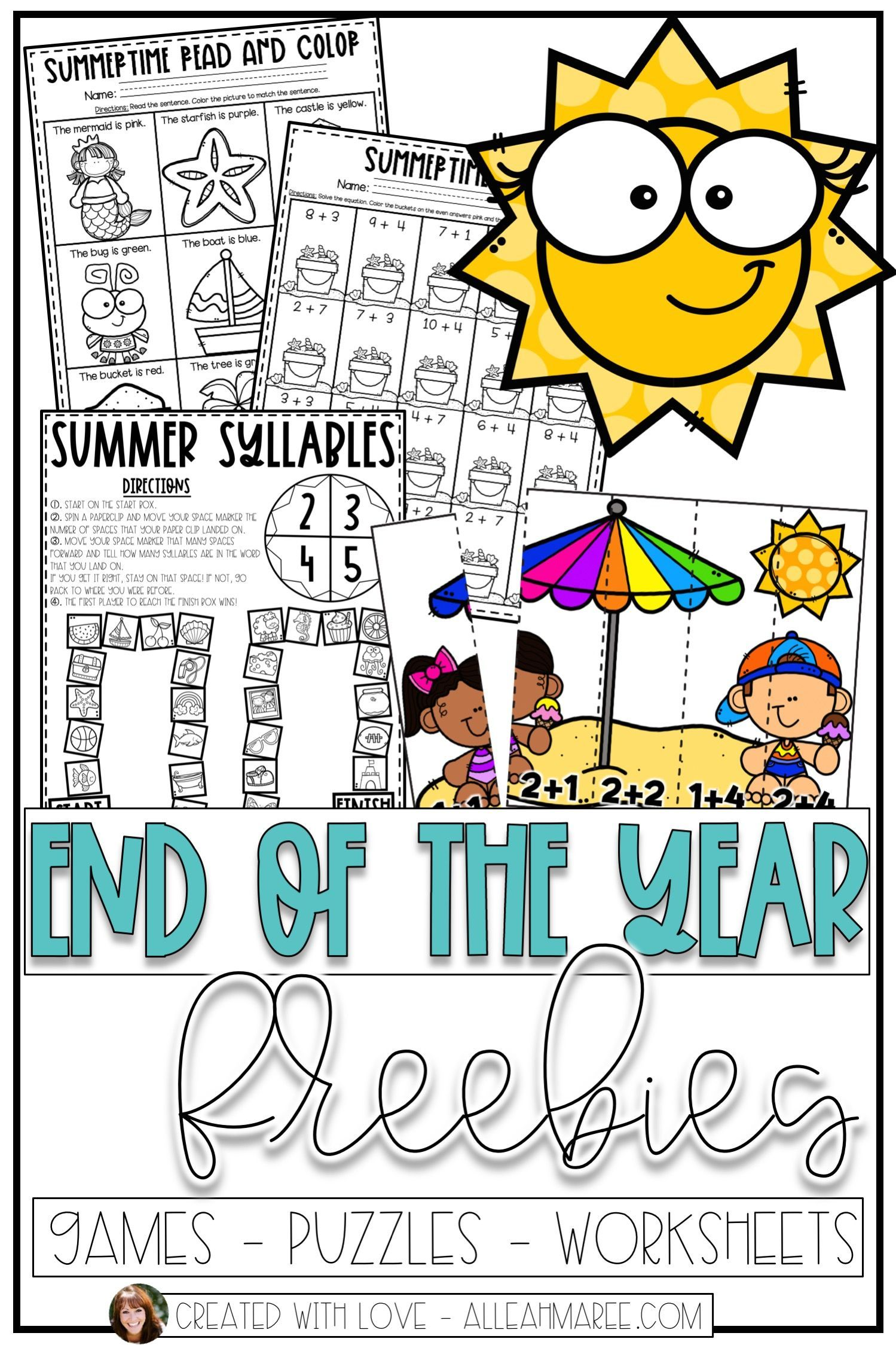 These End Of The Year Activities For Kindergarten And First Grade Are Fun Eng First Grade Math Worksheets Kindergarten Activities Free Kindergarten Worksheets [ 2249 x 1499 Pixel ]