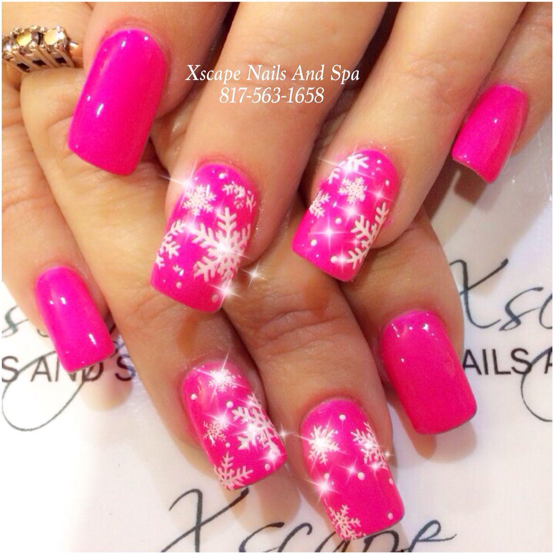 Pink Christmas Nail Designs Cute Nails Designs Pinterest