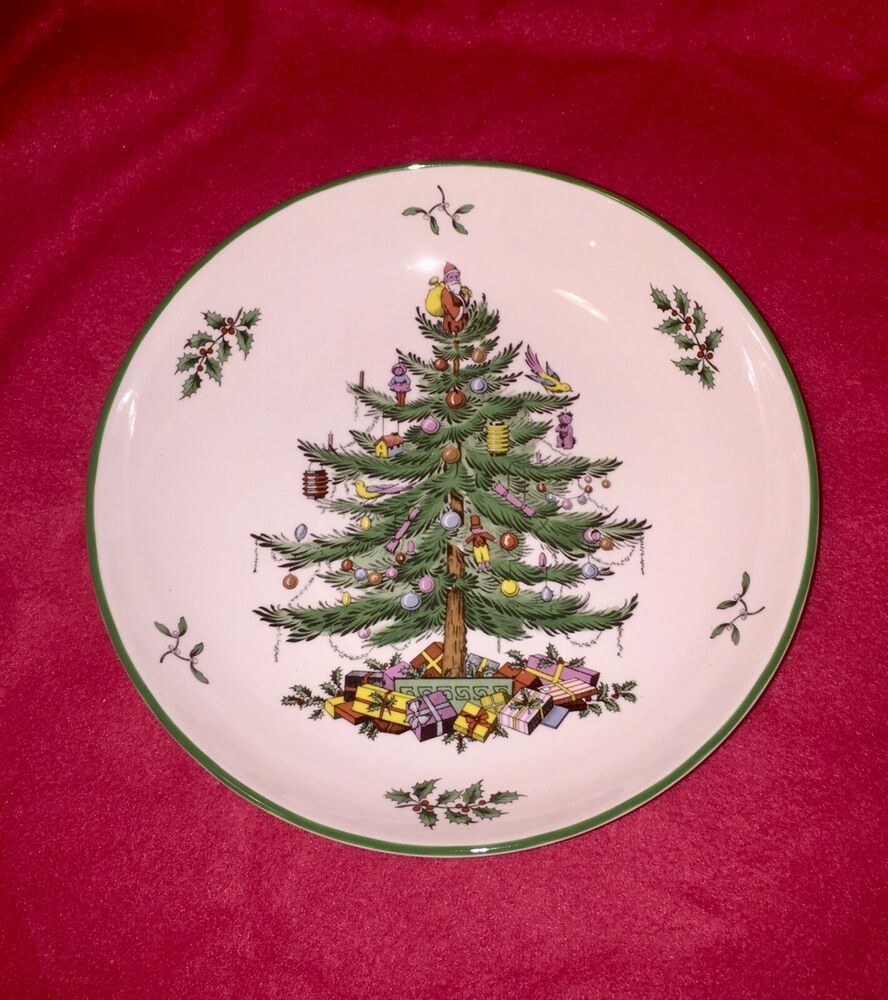 SPODE CHRISTMAS TREE PASTA or SOUP ROUND BOWL ENGLAND 8 1 ...