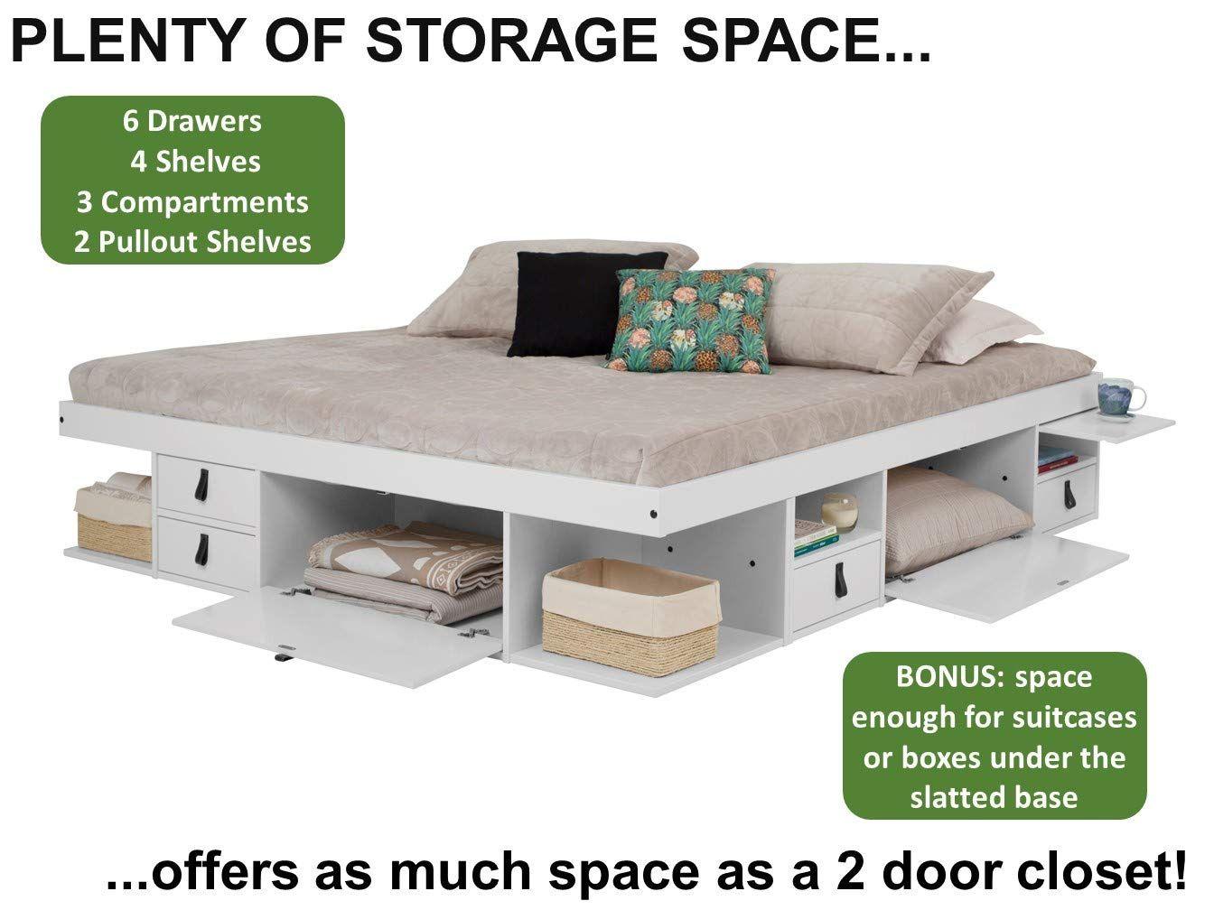 Amazon Com Memomad Bali Storage Platform Bed With Drawers Twin
