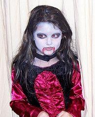 vampire kids costume makeup 195×240  scary kids