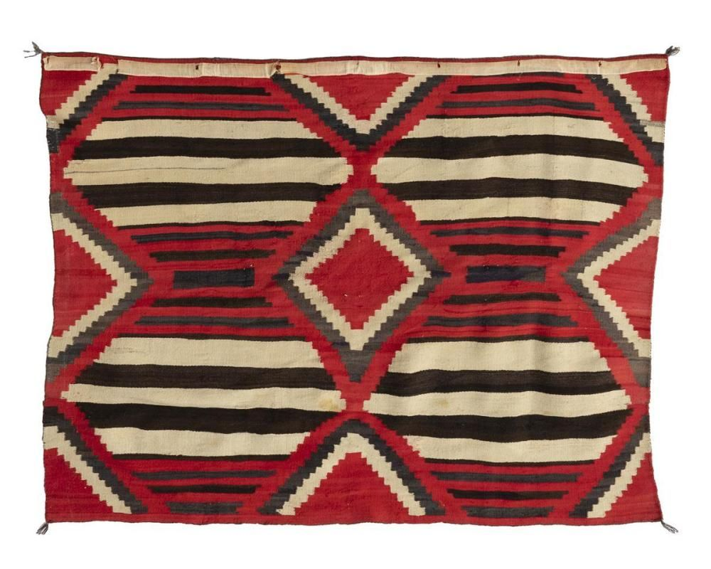Buy Online View Images And See Past Prices For A Navajo Third Phase Chief S Wearing Blanket Style Rug Invaluable I Native American Blanket Rug Styles Blanket