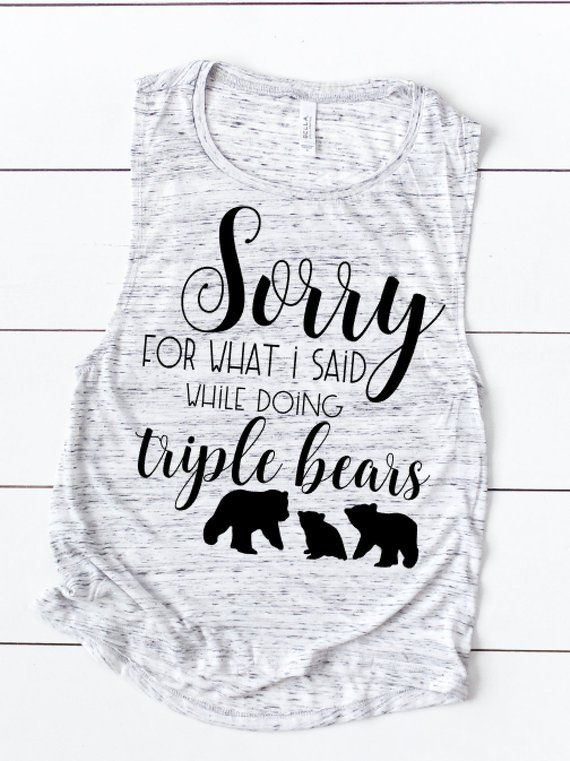 0cd3d723beda7c LIIFT4 Triple Bear workout tank. Beachbody Coach Clothing. Funny Workout  Tank