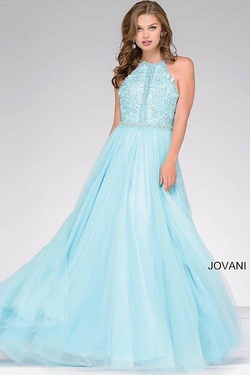 Aqua Embellished A-Line Tulle Prom Dress 47453   Prom   Pinterest ...