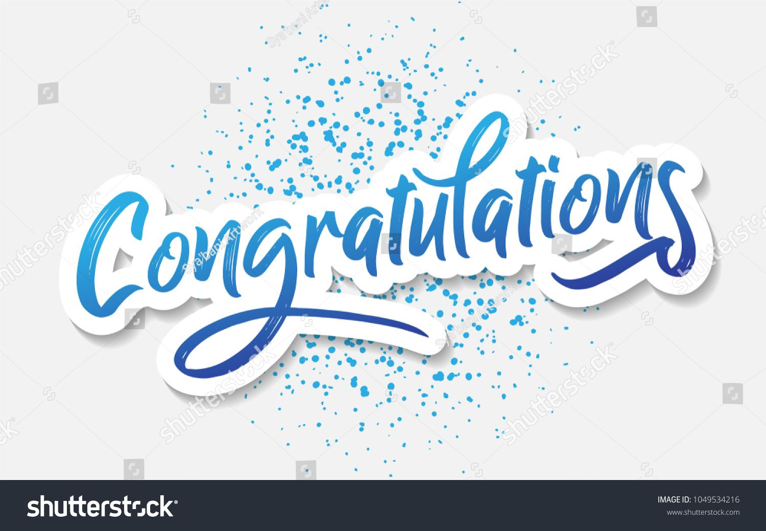 Congratulations Typography Lettering Handwritten Vector For Greeting Lettering Ty Congratulations Typography Congratulations Images Congratulations Banner