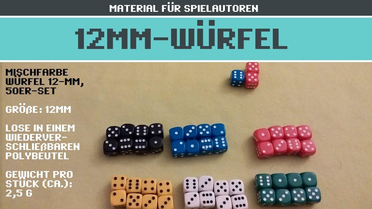 12mm-Würfel, 50er-Set