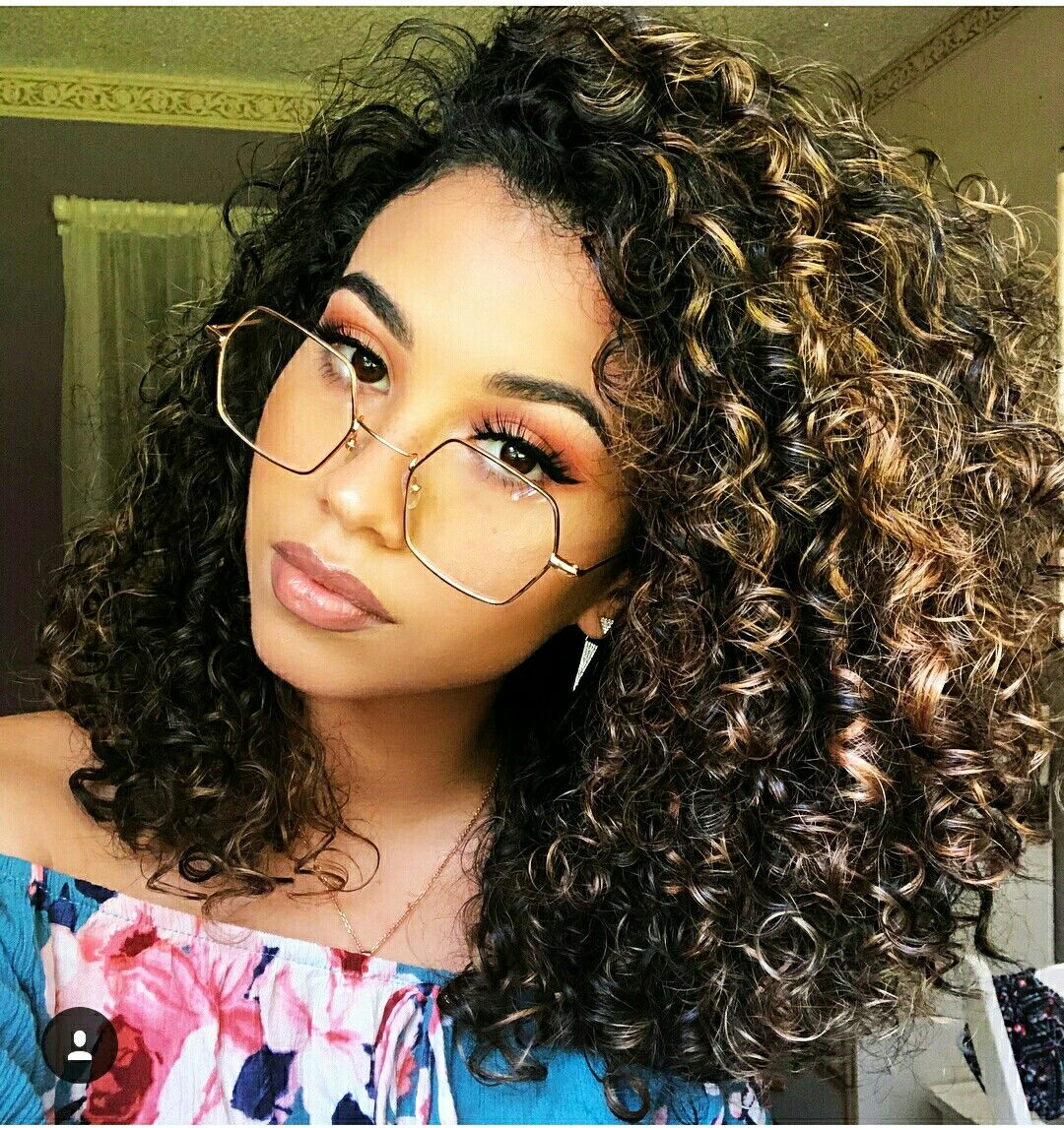 Curly Hair With Blonde Black Mix Curly Hair Styles Naturally