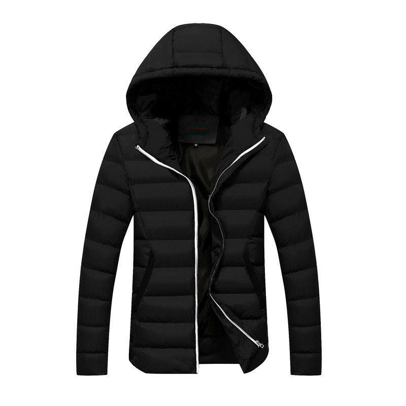 Men Winter Hooded Slim Fit Fashion Jacket