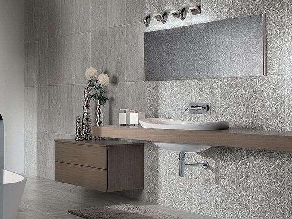 Piastrelle bagno moderno - Piastrelle effetto pietra