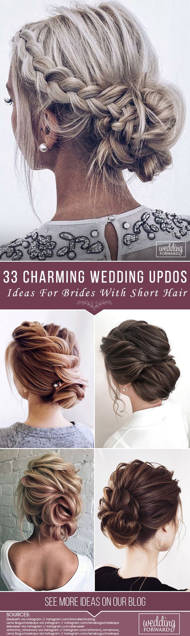 33 wedding updos for short hair | wedding hairstyles & updos