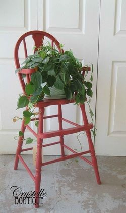 Groovy Turn My Kids Old High Chair Into A Plant Stand And Then Alphanode Cool Chair Designs And Ideas Alphanodeonline