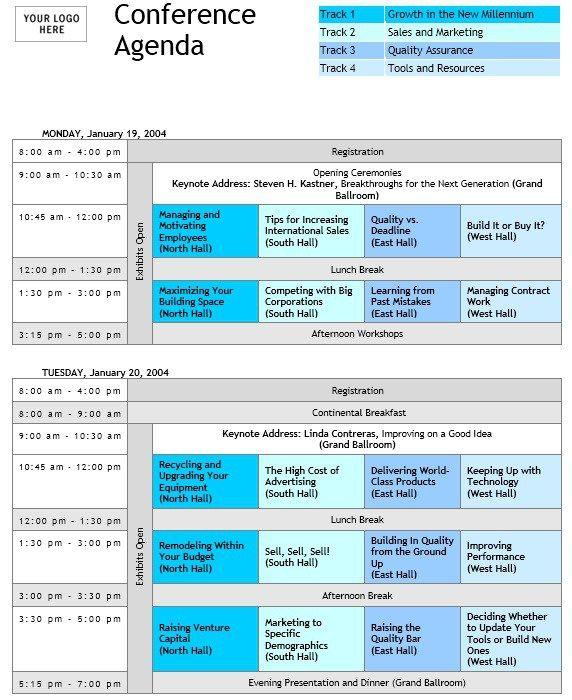 8 Free Seminar Agenda Templates Agenda Template Free Seminar