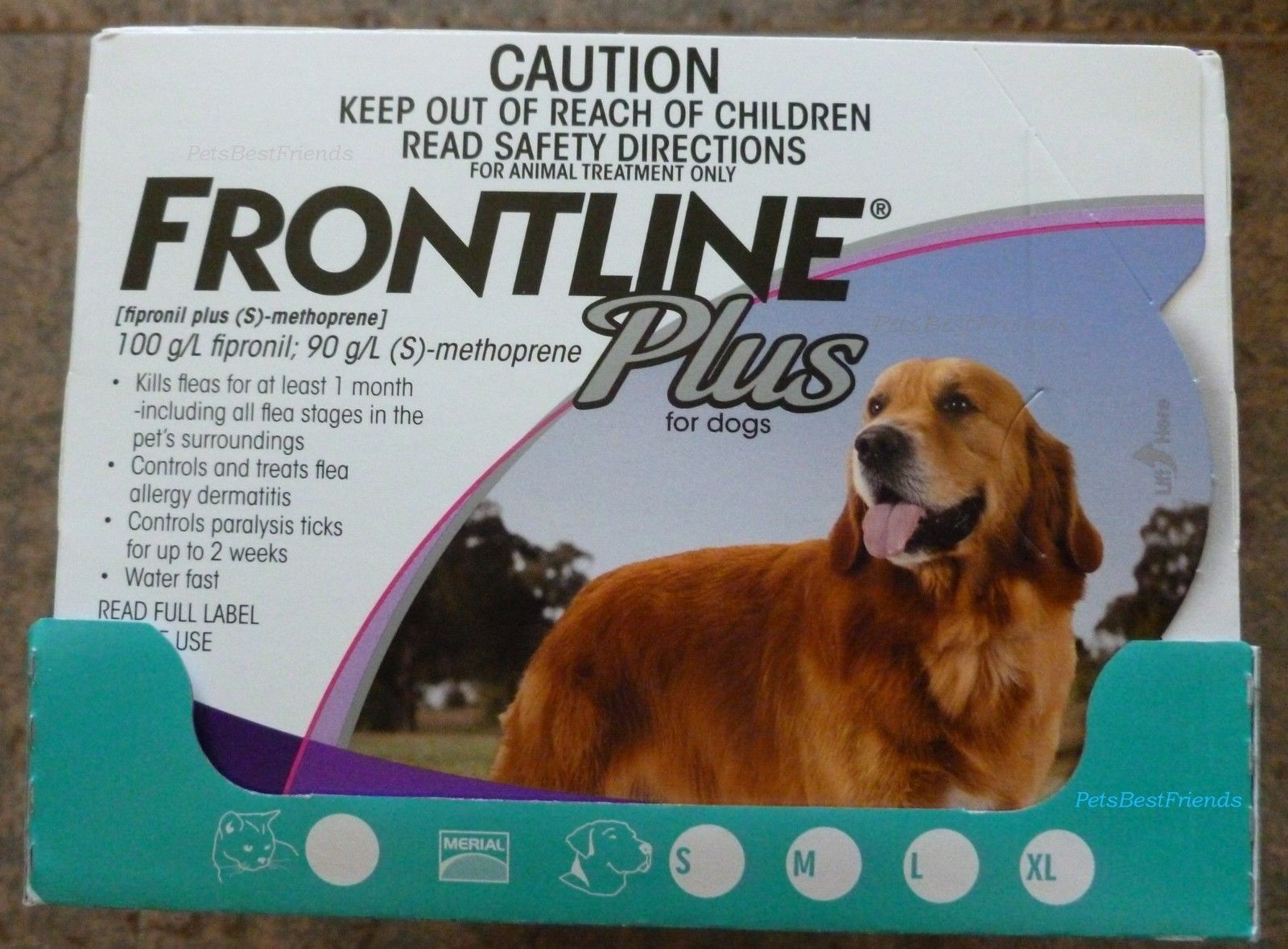 You are purchasing a box of Frontline Plus Flea Medication