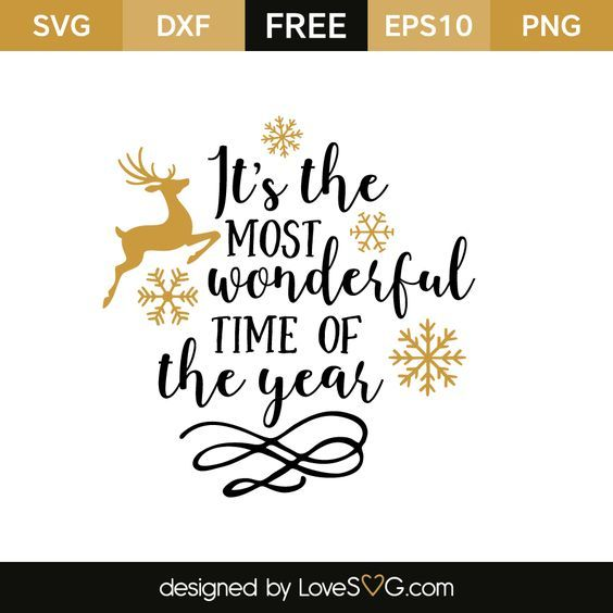 Download It's the most wonderful time of the year | Christmas svg ...