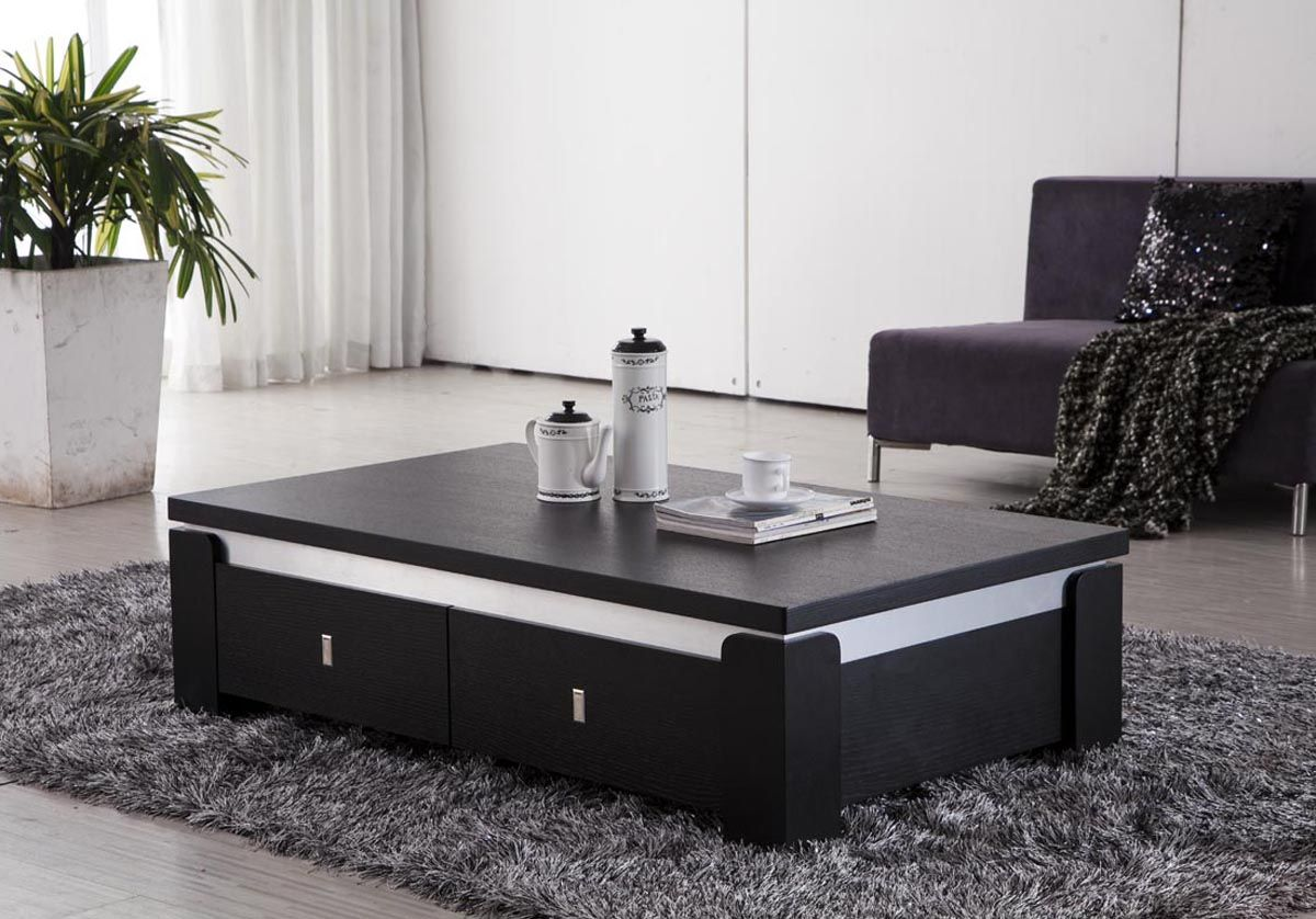 Table: Modern Black Glass Coffee Table Black Metal Glass Coffee Table  Matrix Black Glass Coffee