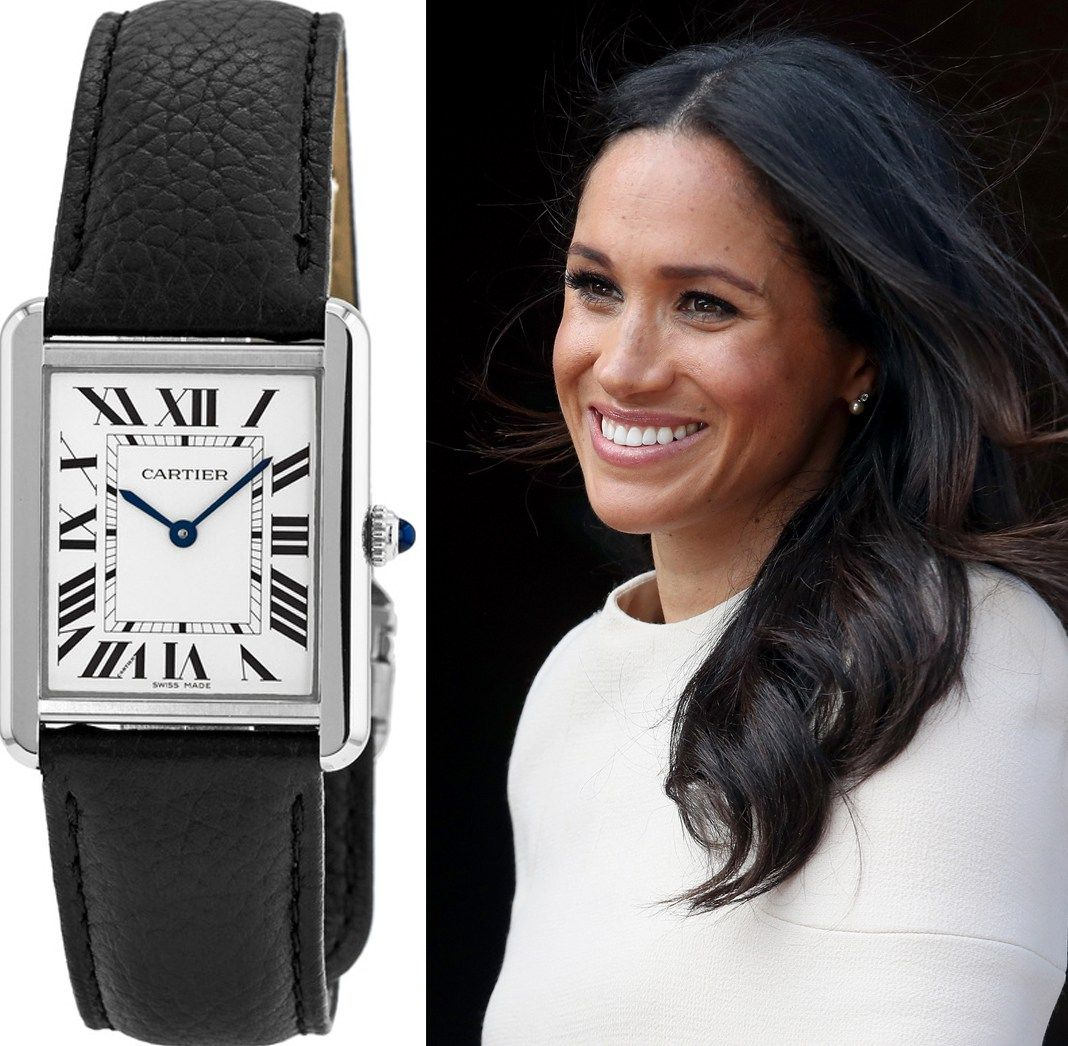 MEGHAN MARKLE CARTIER TANK WATCH