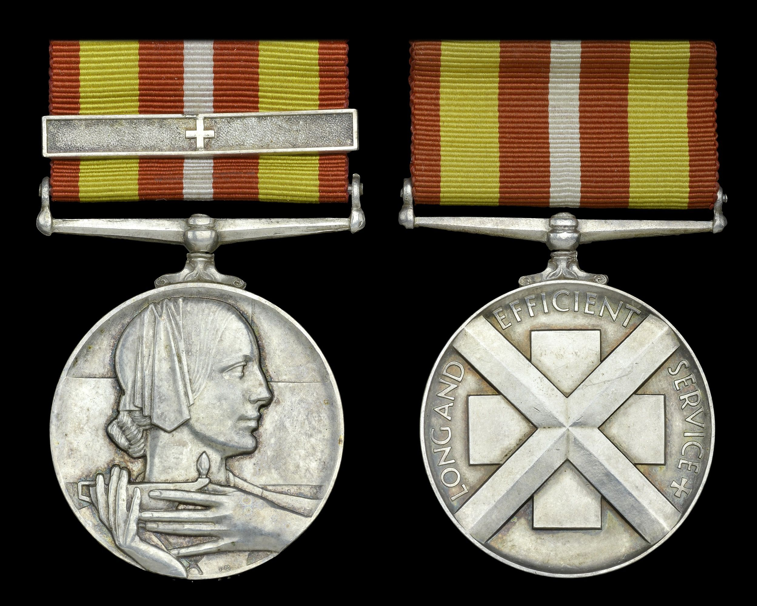 UK Voluntary Medical Service Medal, silver, (Miss Mary
