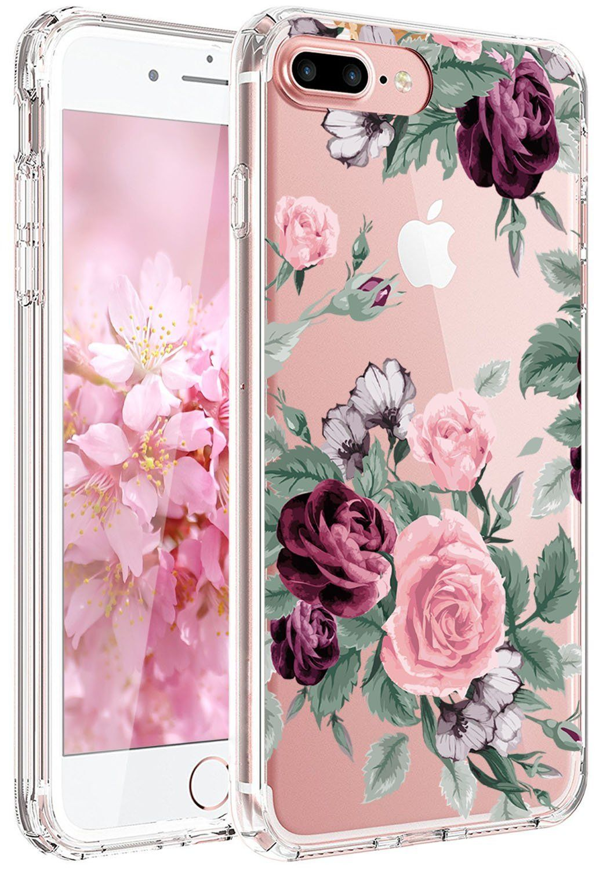 best website cd78b 9c38c iPhone 6 Case, iPhone 6S case Girl Floral Pink Purple Rose | Phone ...