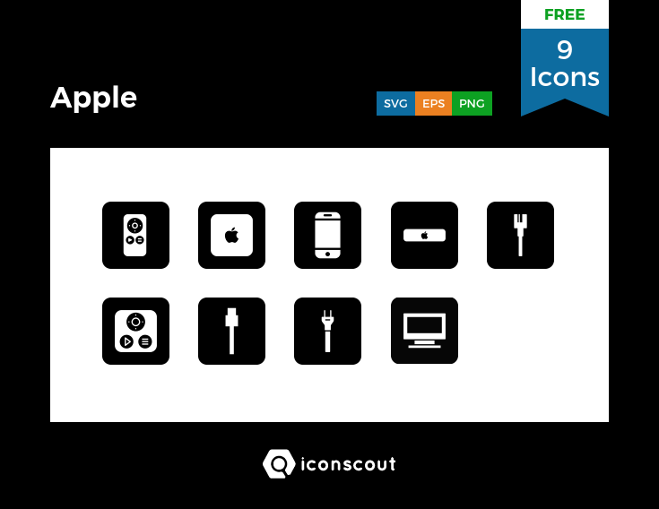 Download Download Apple Icon pack - Available in SVG, PNG, EPS, AI ...