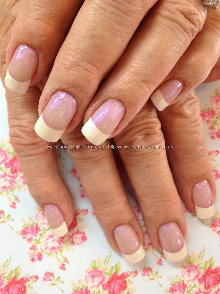 White French polish over acrylic nails   nails nails nails ...