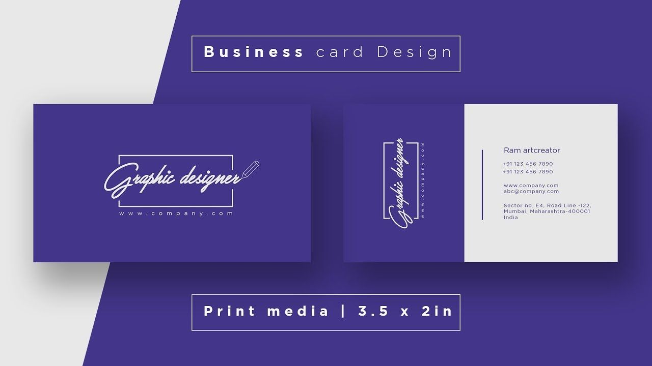 Business Card Design Create Visiting Card In Adobe Illustrator Cc 2020 Business Card Design Visiting Cards Card Design
