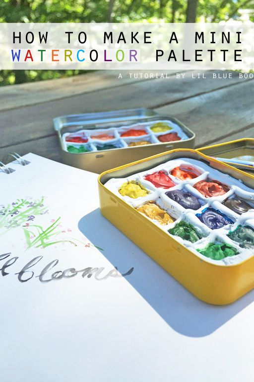Diy Portable Watercolor Palette Watercolor Art Diy Watercolor