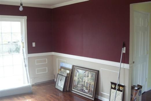 Pics Of Dark Red Painted Rooms
