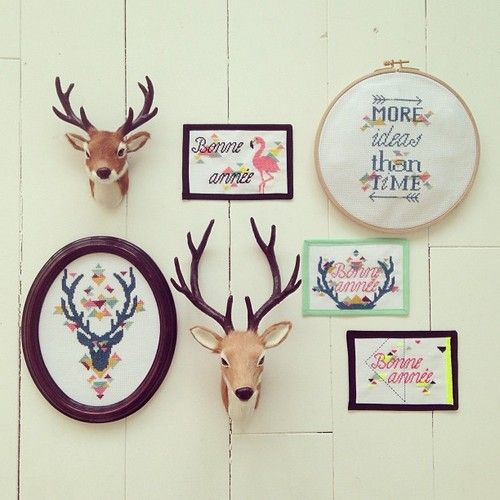 Embroidery wall by Jesus Sauvage