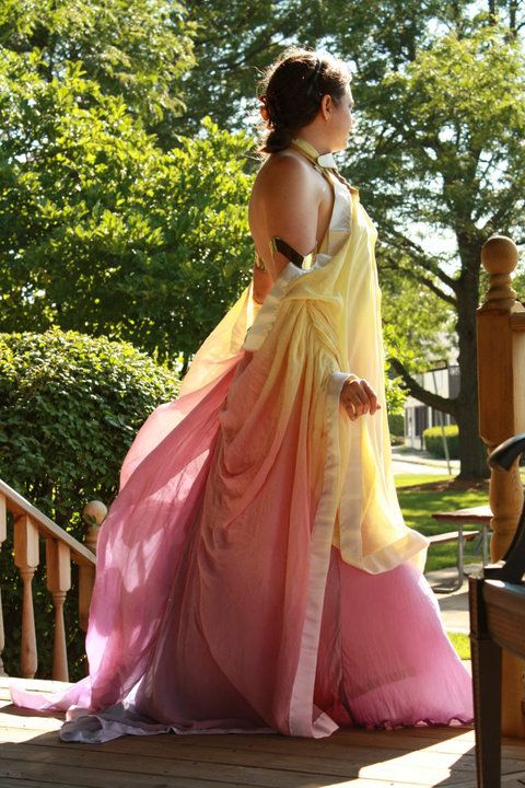 Padme\'s lake gown | Color Combinations: Pink + Yellow, Pink + Orange ...