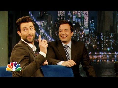Adam Levine Does His Best Aaron Neville on Late Night With Jimmy Fallon 6/14/13