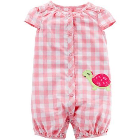 072567a1e8e Child of Mine by Carter s Newborn Baby Girl One Piece Button Up Romper