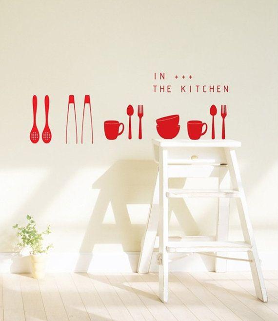 Kitchenwares Words Diy Kitchen Wall Art Vinyl By Wallspurart 29 99 Kitchen Wall Art Vinyl Wall Art Diy Kitchen