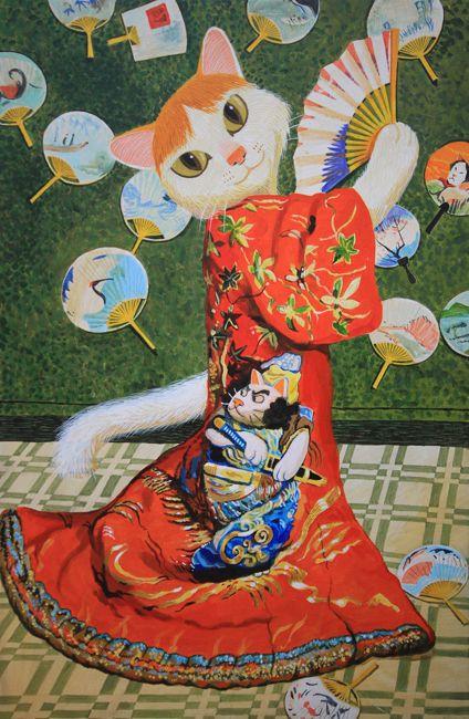 着物を着たミャネ婦猫 (c)Shu Yamamoto / APPLE FARM INC.