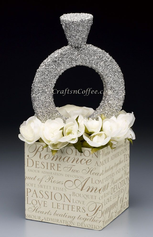 wedding craft ideas centerpieces diy ring craft this glittering ring 5709