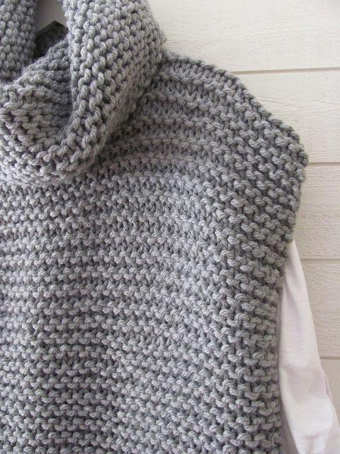 8b15493cd43f8f Easy Knit Women Sweater Vest Free Knitting Pattern