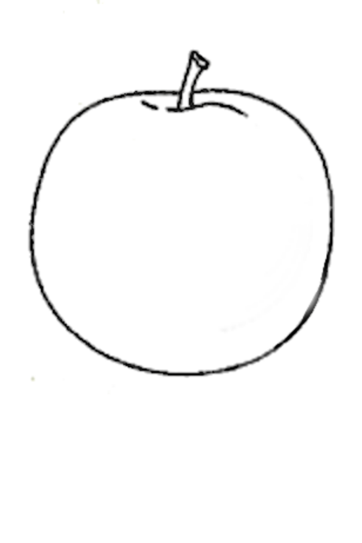 Color An Apple Apple Outline Apple Coloring Pages Apple Coloring