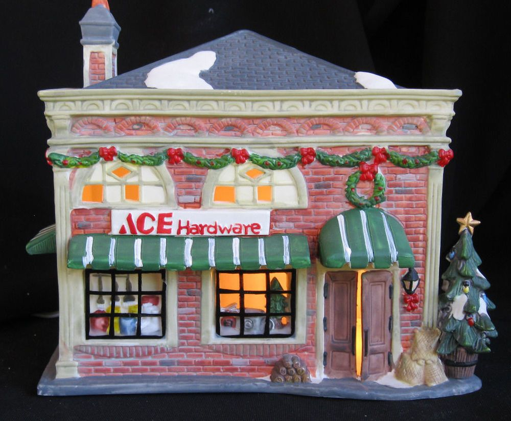 O'well Lighted Ceramic Christmas House / Ace Hardware ...