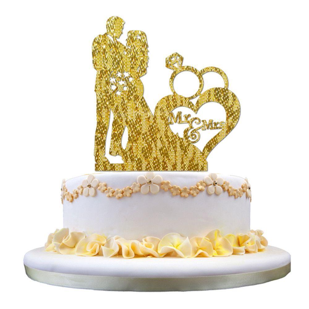 Mr&Mrs Acrylic Wedding Cake Topper - Wedding Look   Wedding Cake ...