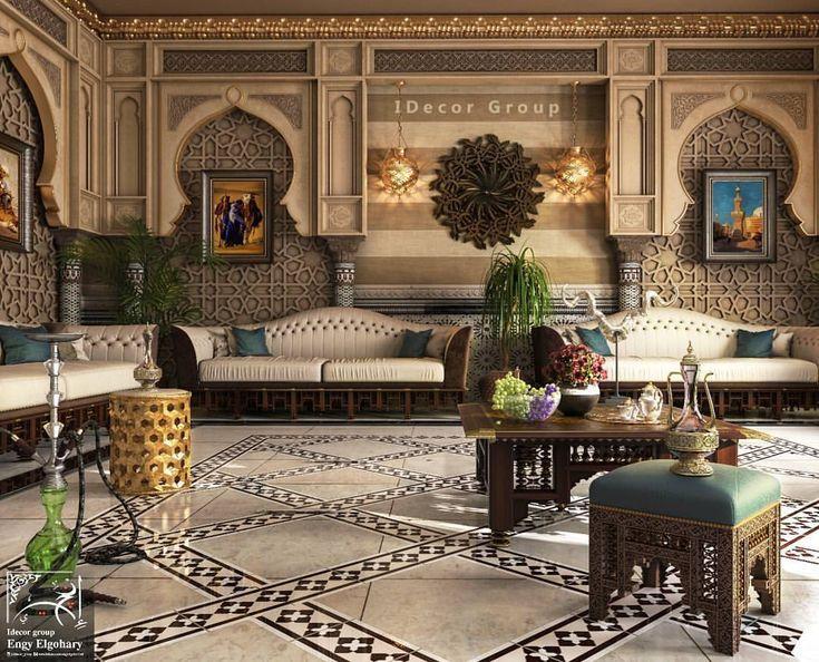 ديكور مشرقي مغربي عصري Arabic Decor Design Moroccan Interiors