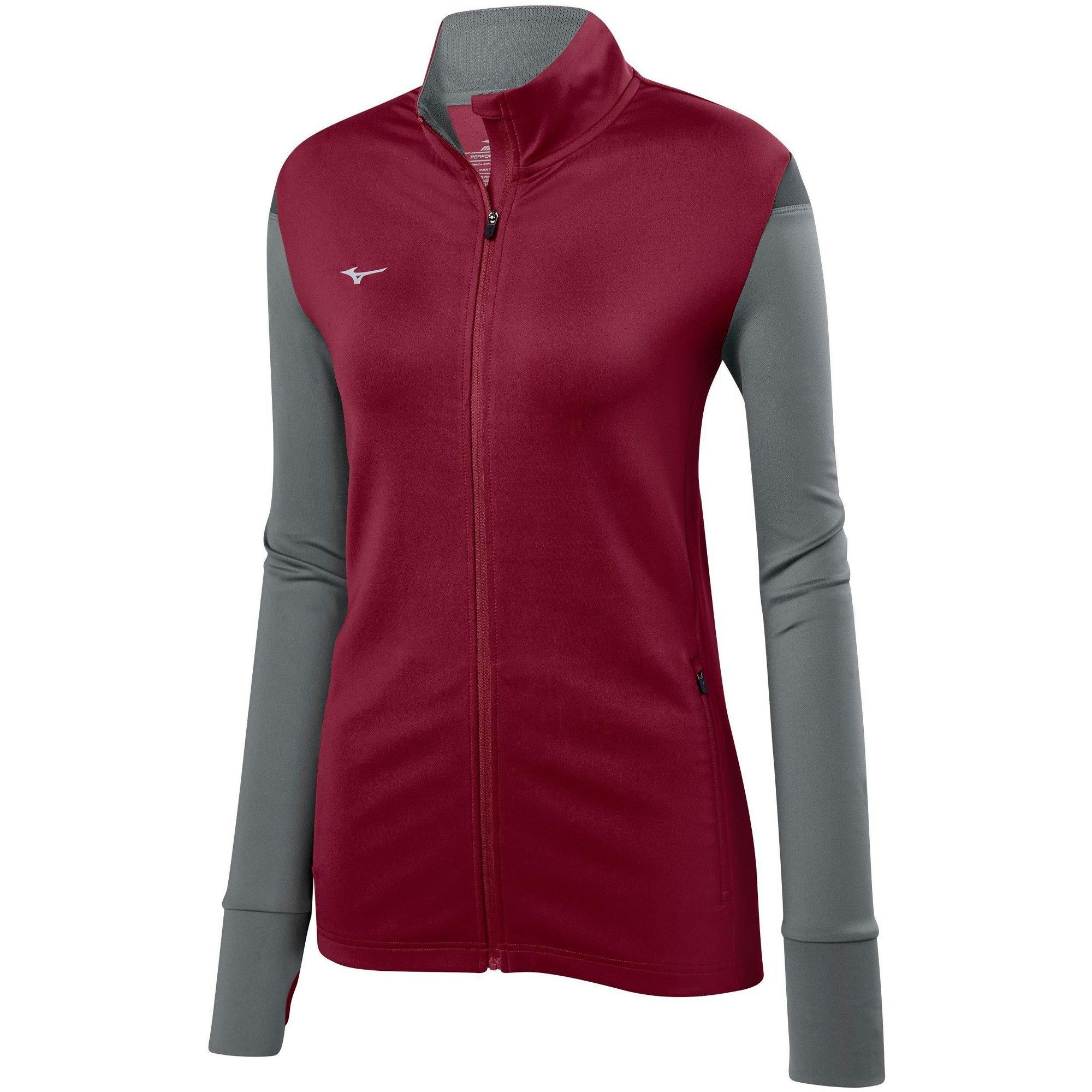 Mizuno Women S Horizon Full Zip Volleyball Jacket Size Extra Extra Large In Color Cardinal Grey 1291 Jackets For Women Jackets Street Style Women